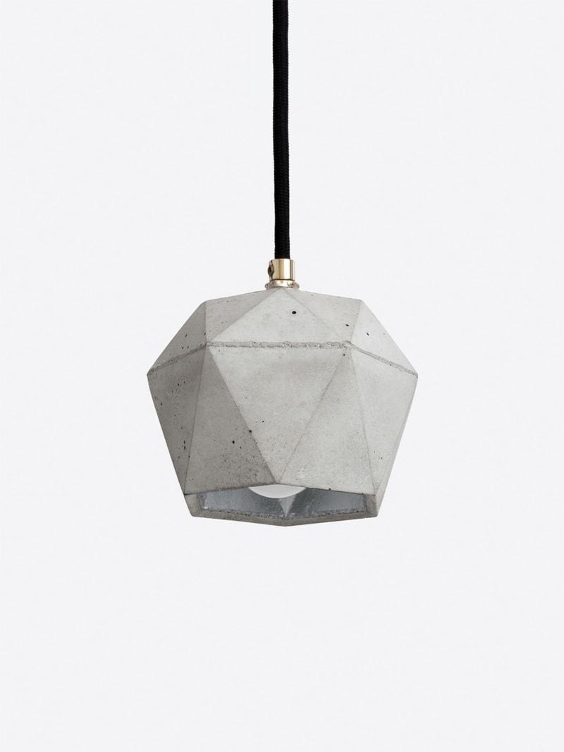 t2set haengelampe lampenbuendel trianguliert beton silber 12