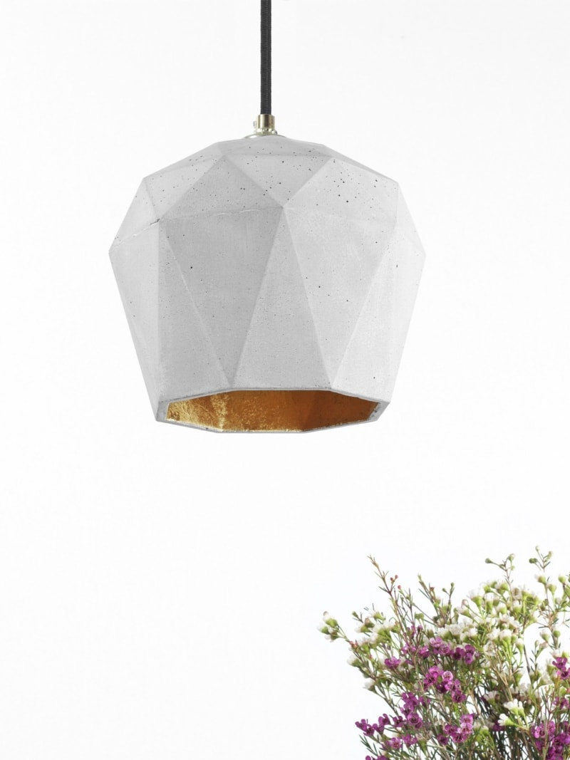 t3 haengelampe trianguliert beton gold 12