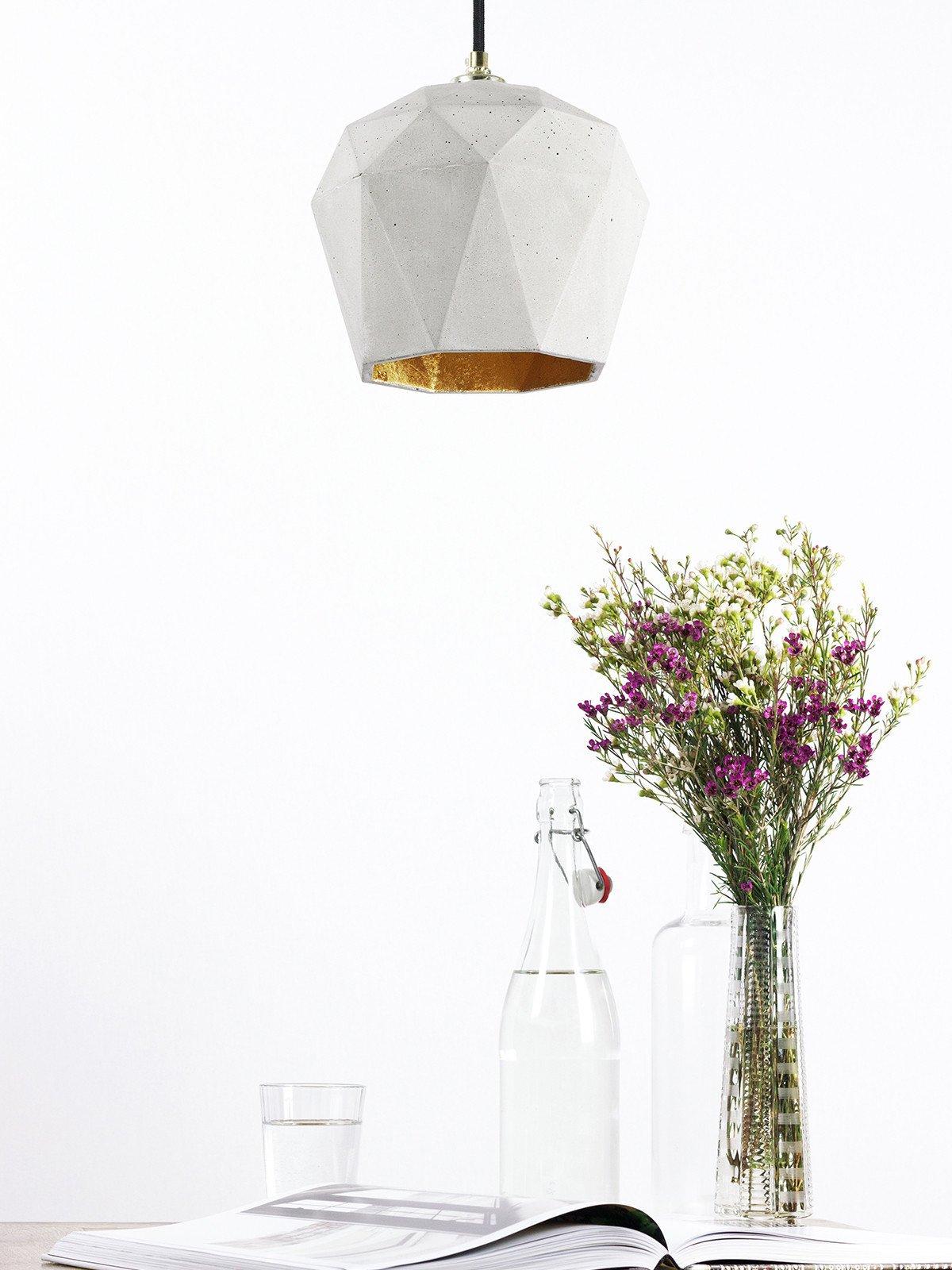 t3 haengelampe trianguliert beton gold 14