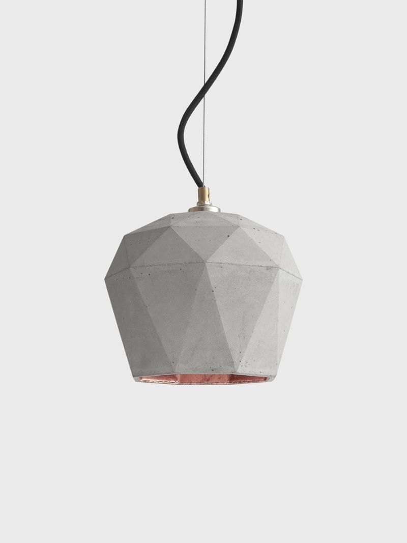 t3 haengelampe trianguliert beton kupfer 17