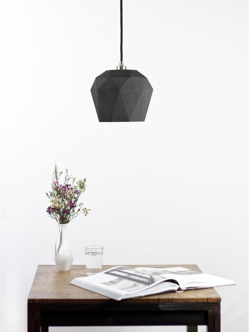 t3dark haengelampe trianguliert beton 08
