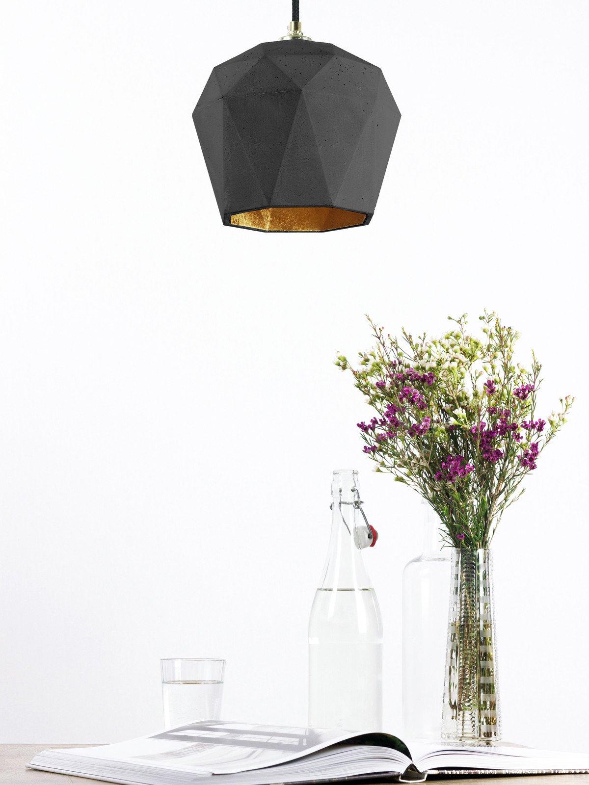 t3dark haengelampe trianguliert beton gold 09