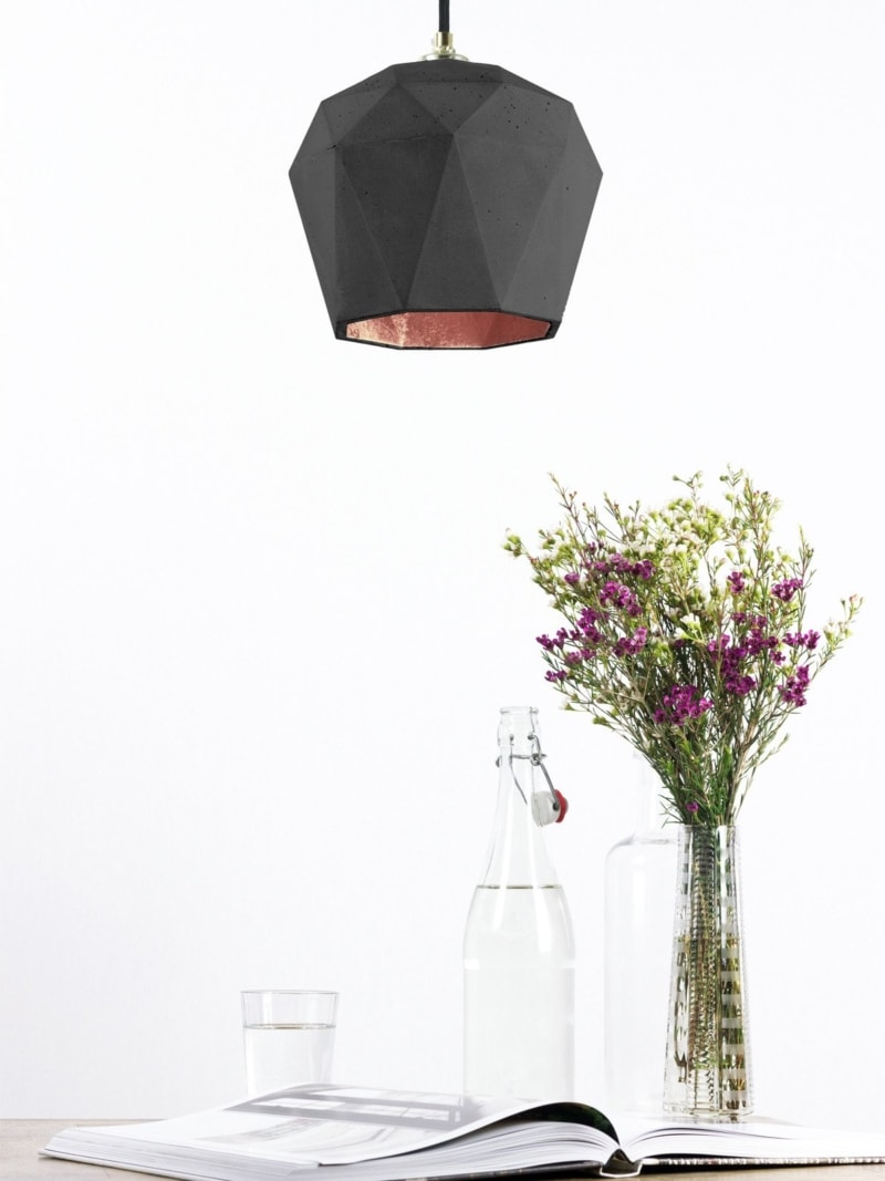 t3dark haengelampe trianguliert beton kupfer 12