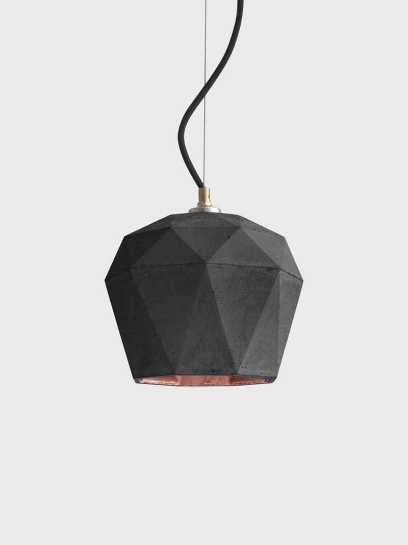 t3dark haengelampe trianguliert beton kupfer 14