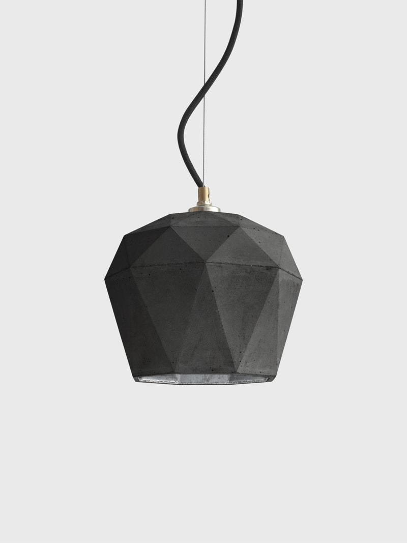 t3dark haengelampe trianguliert beton silber 07