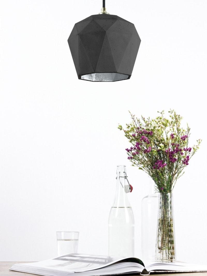 t3dark haengelampe trianguliert beton silber 13