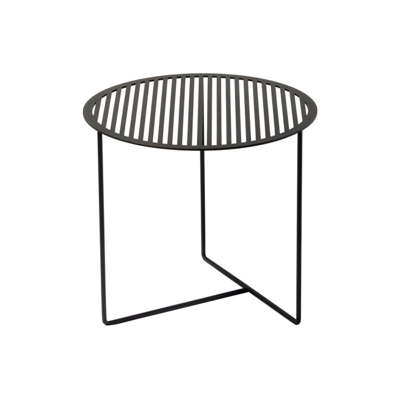 beistelltisch grid 01 stahlblech rundeisen stahl blech metall schwarz 04