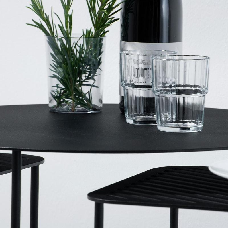 beistelltisch solid 01 stahlblech rundeisen stahl blech metall schwarz 03
