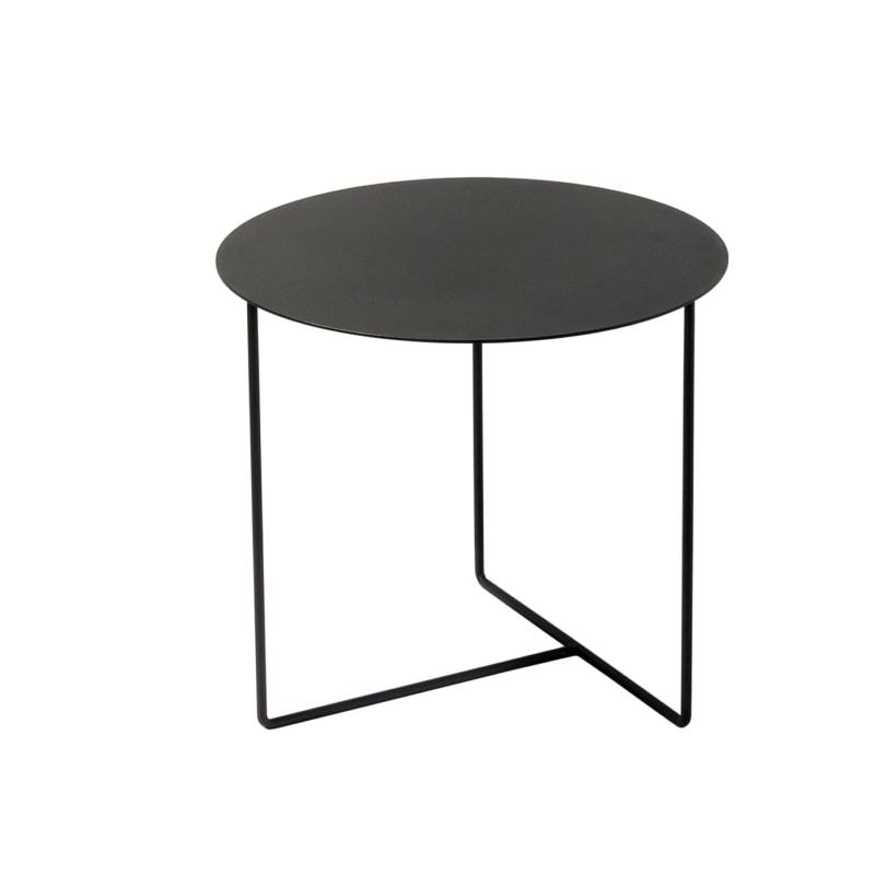 beistelltisch solid 01 stahlblech rundeisen stahl blech metall schwarz 04