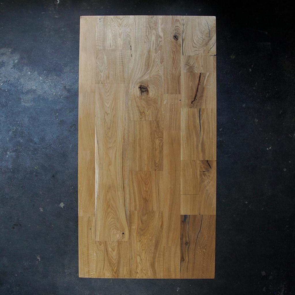 esstisch filigran eiche massivholz stahl braun schwarz weiss woodboom 02