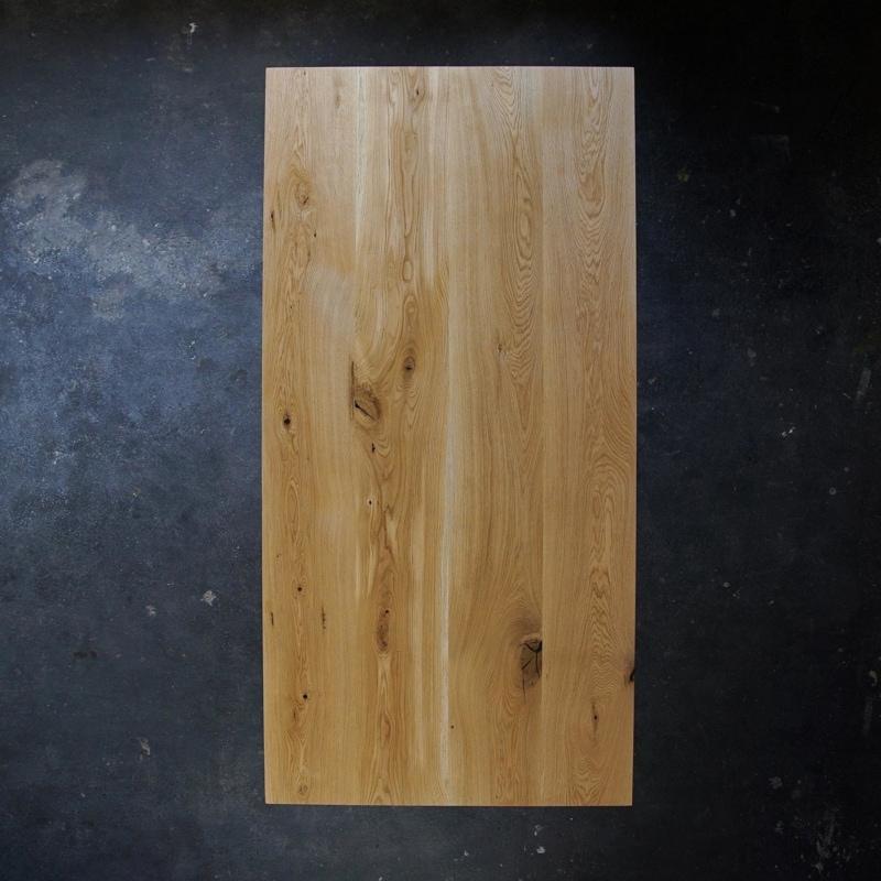 esstisch gerade eiche massivholz stahl braun schwarz weiss woodboom 02