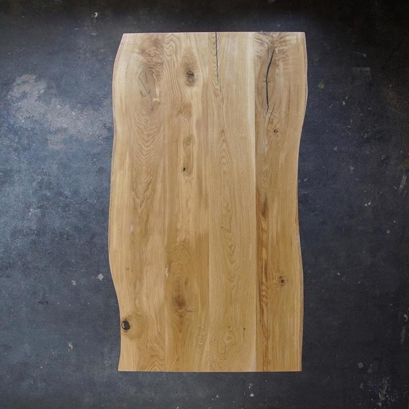 esstisch konisch eiche massivholz stahl braun schwarz weiss woodboom 02