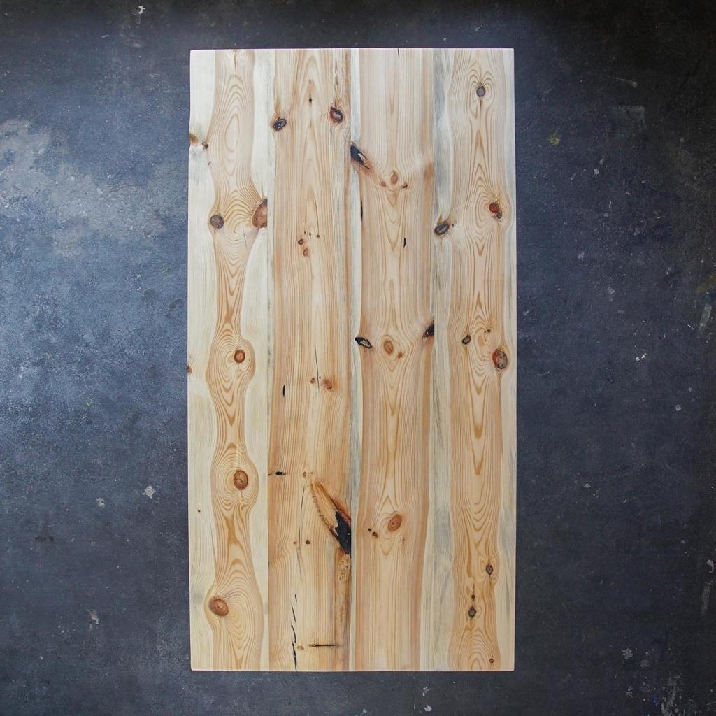 esstisch konisch kiefer massivholz stahl braun schwarz weiss woodboom 02