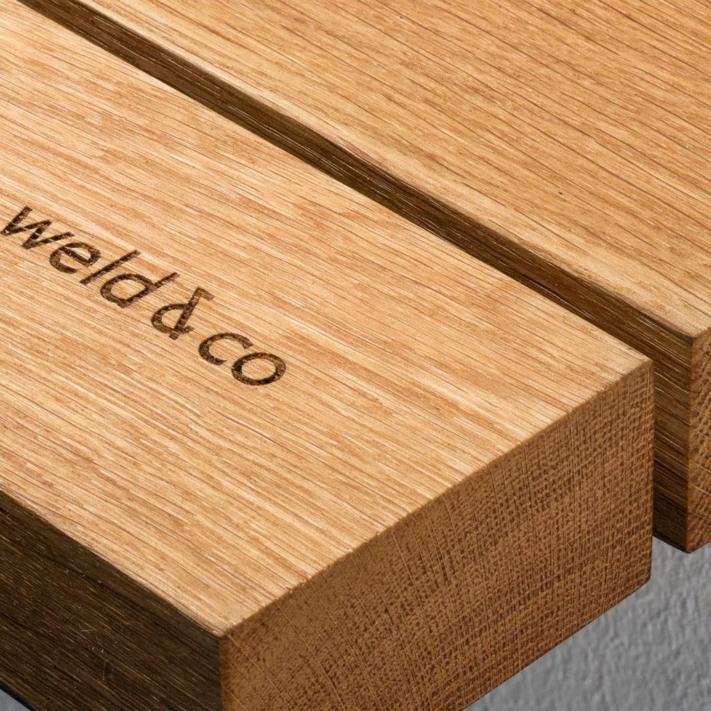 garderobe 01 eiche massivholz braun kleiderstange metall schwarz weldco 04