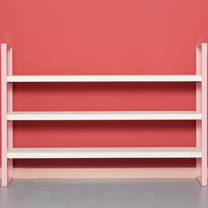 01 susteren mini regal hellrosa rosa bauholz stahl aufbewahrung johanenlies