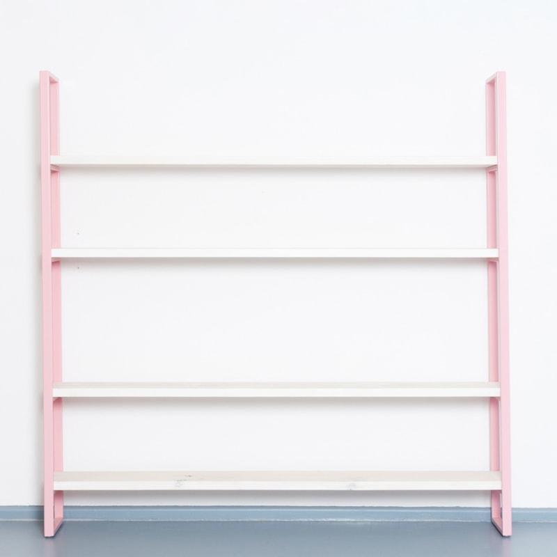 01 susteren regal hellrosa rosa bauholz stahl aufbewahrung johanenlies