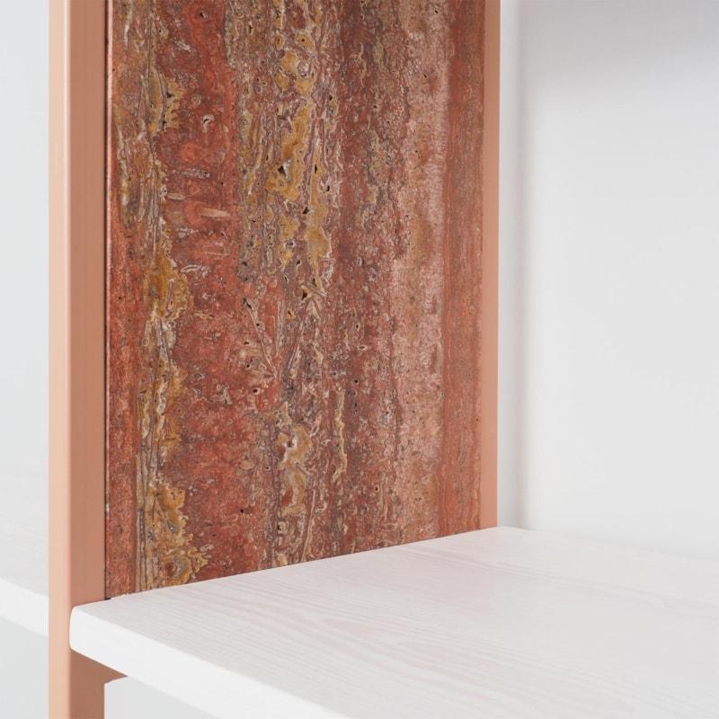 02 celeste regal beigerot rot bauholz stahl marmor travertin aufbewahrung johanenlies