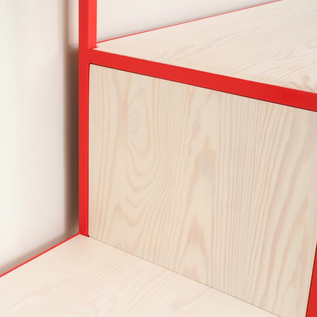 03 celeste sideboard erdbeerrot rot bauholz stahl aufbewahrung johanenlies