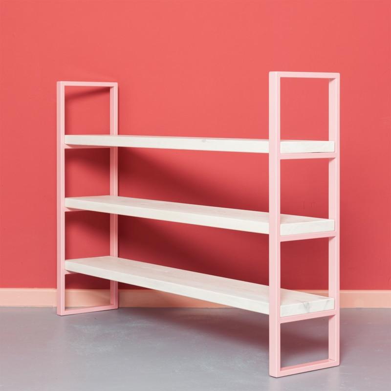 03 susteren mini regal hellrosa rosa bauholz stahl aufbewahrung johanenlies