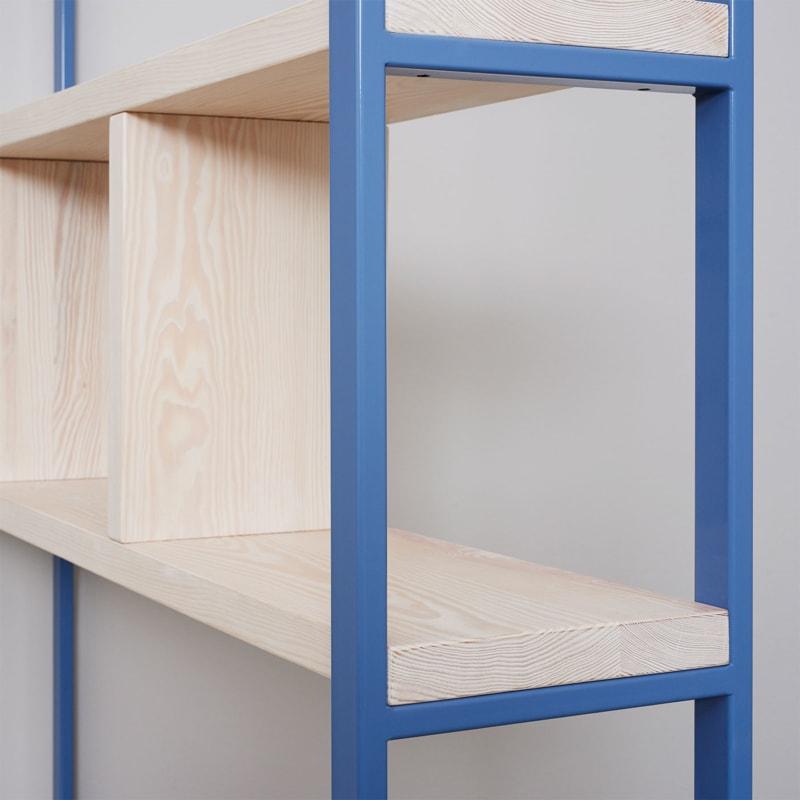 03 susteren regal taubenblau blau bauholz stahl aufbewahrung johanenlies