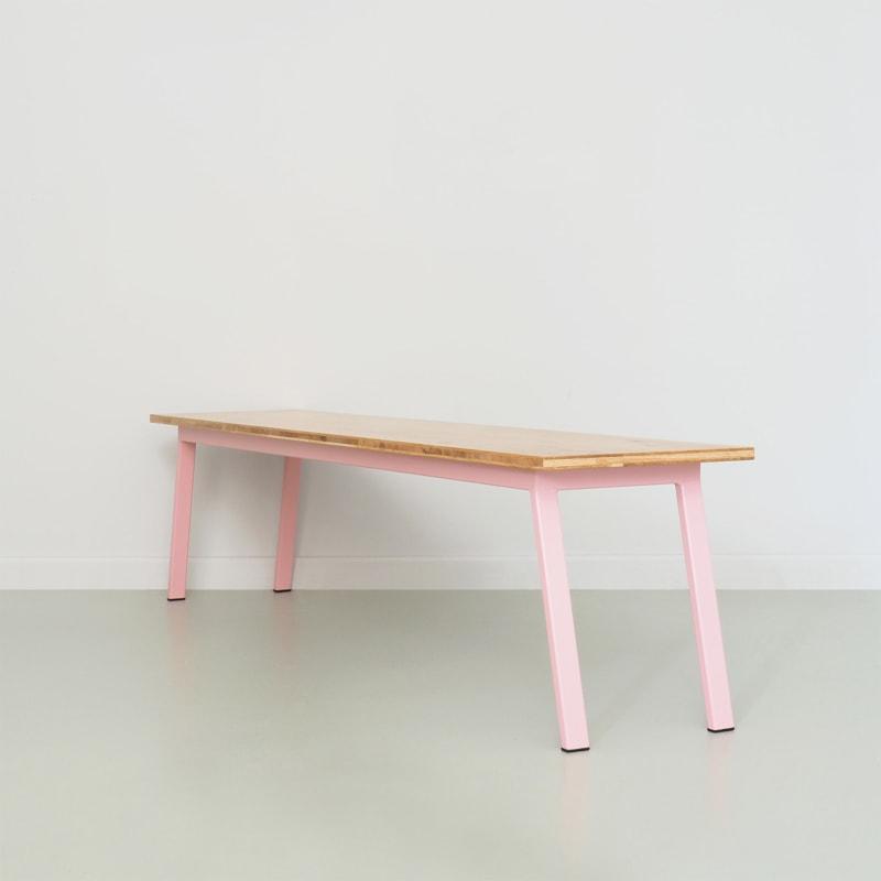 07 valkenburg oak bank hellrosa rosa eiche holz stahl sitzen johanenlies