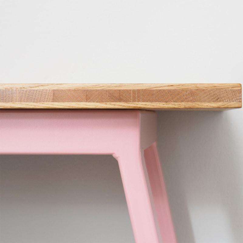 09 valkenburg oak bank hellrosa rosa eiche holz stahl sitzen johanenlies