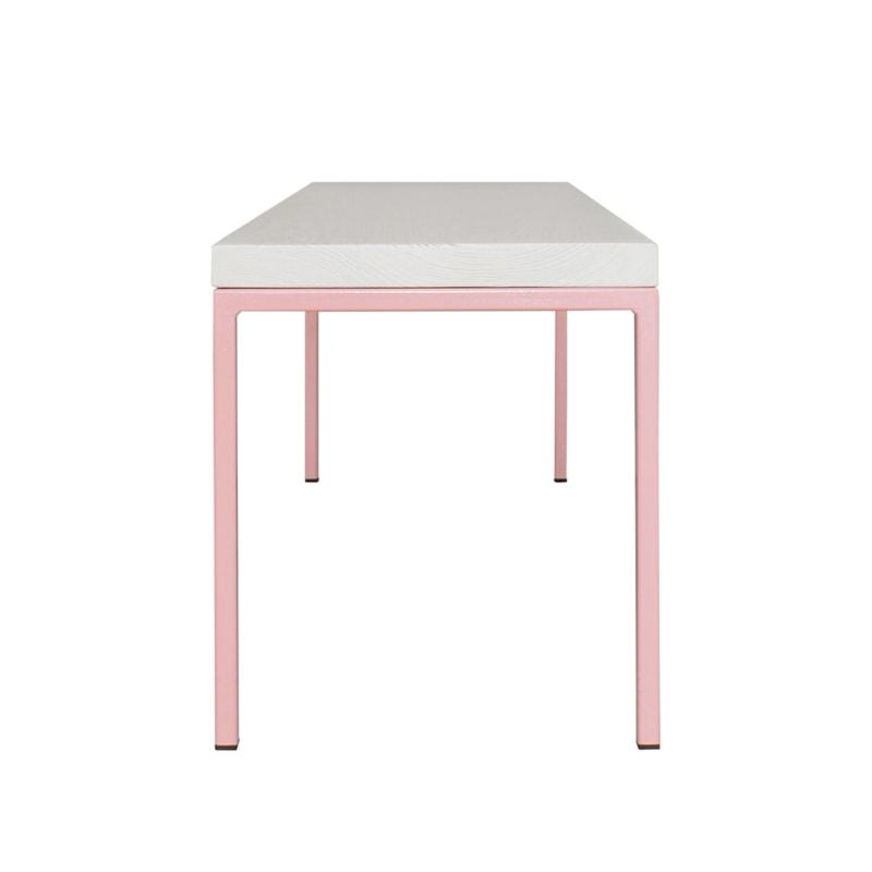 10 simpelveld bank hellrosa rosa bauholz holz stahl sitzen johanenlies