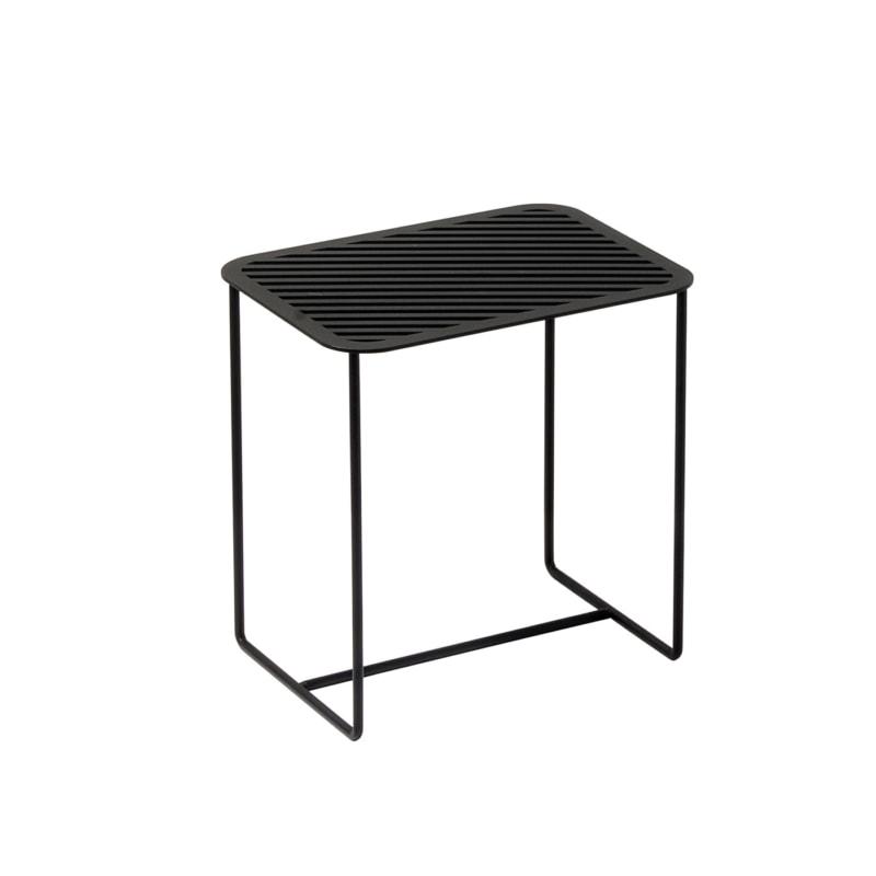 beistelltisch grid 02 stahlblech rundeisen stahl blech metall schwarz 04