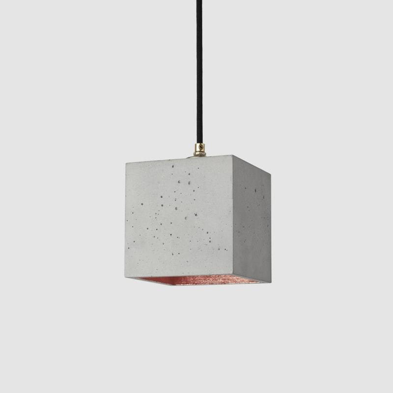 haengelampe b1 beton kupfer lampe licht gantlights