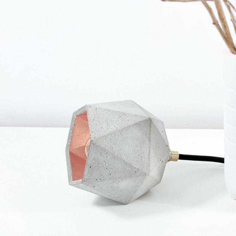 stehlampe t2up beton kupfer lampe licht gantlights