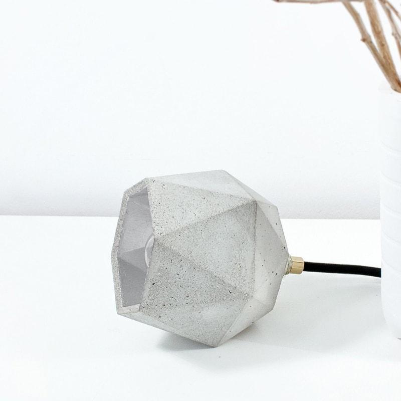 stehlampe t2up beton silber lampe licht gantlights