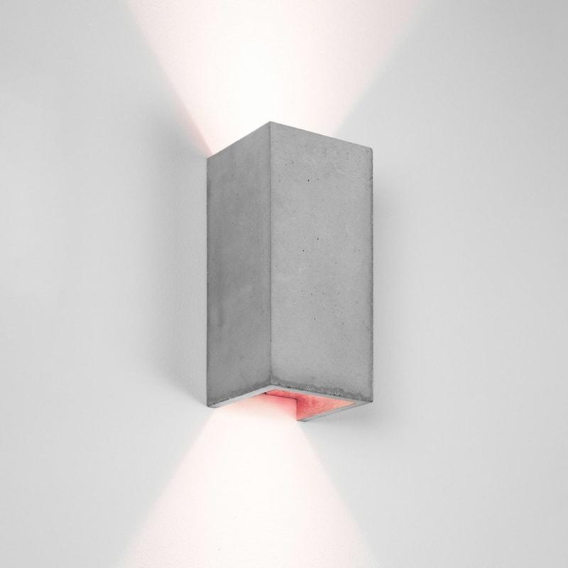 wandlampe b8 beton kupfer gantlights lampe licht