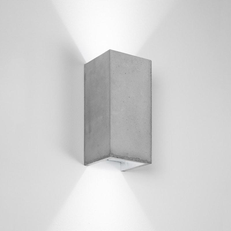 wandlampe b8 beton silber gantlights lampe licht