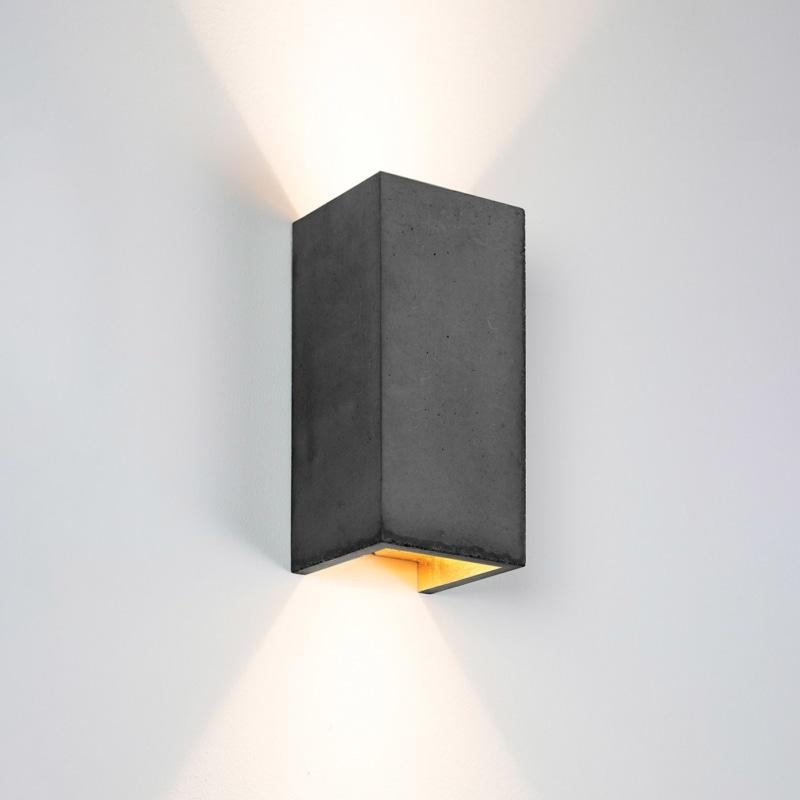 wandlampe b8dark beton gold gantlights lampe licht