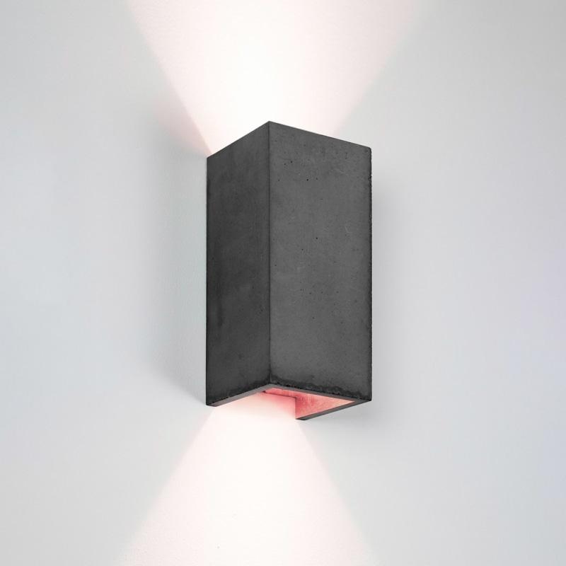 wandlampe b8dark beton kupfer gantlights lampe licht