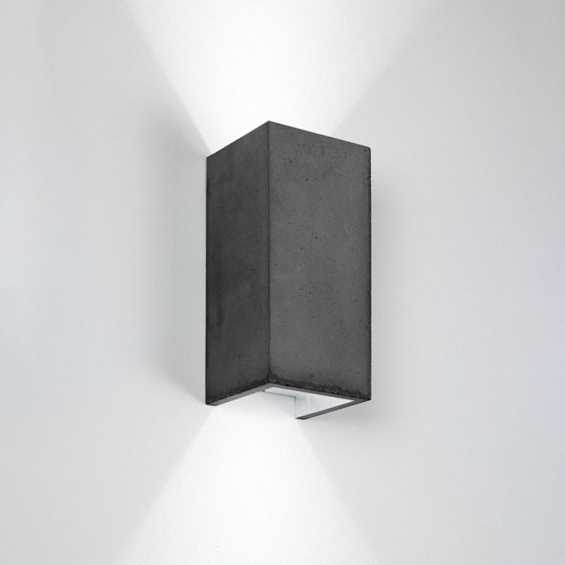 wandlampe b8dark beton silber gantlights lampe licht