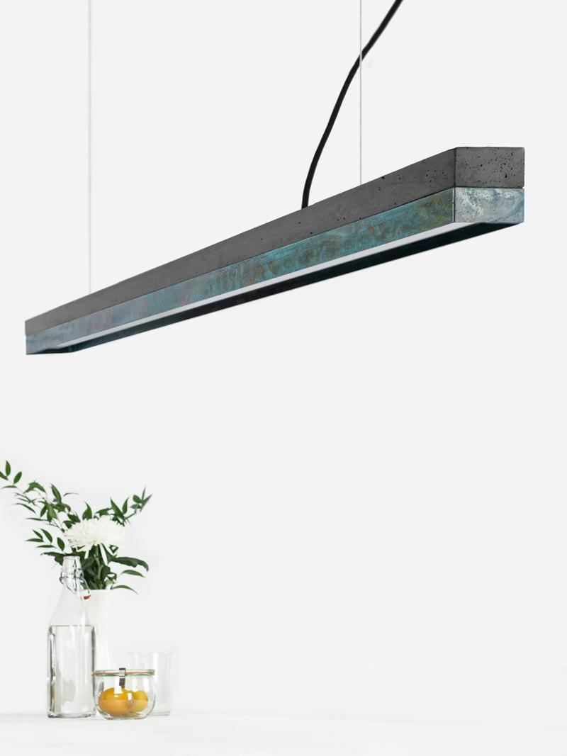 01 c3 konfigurator haengelampe pendelleuchte lampe leuchte licht beton dunkel kupfer oxidiert gantlights