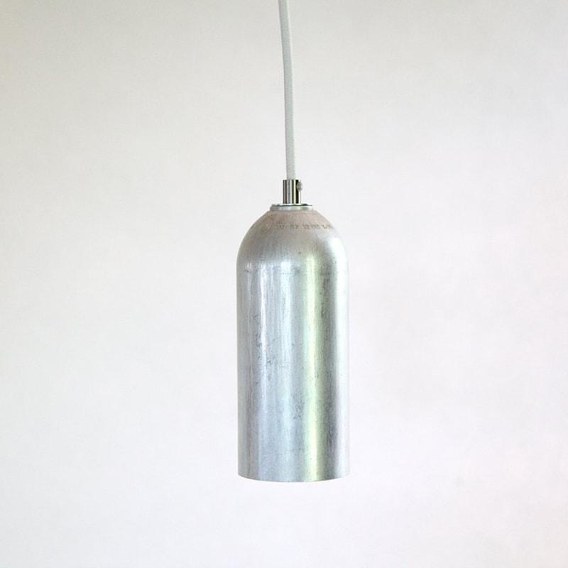 01 firelight haengelampe lampe licht silber aluminum werkvoll
