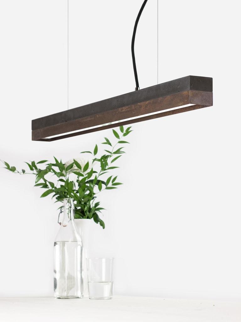 02 c2 konfigurator haengelampe pendelleuchte lampe leuchte licht beton dunkel cortenstahl stahl gantlights