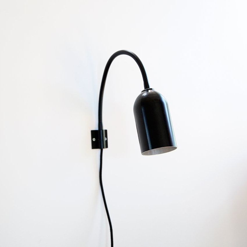 03 firelight wandleuchte lampe aluminum schwarz licht werkvoll