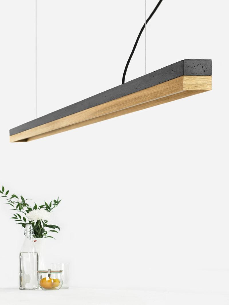04 c3 konfigurator haengelampe pendelleuchte lampe leuchte licht beton dunkel eichenholz holz gantlights