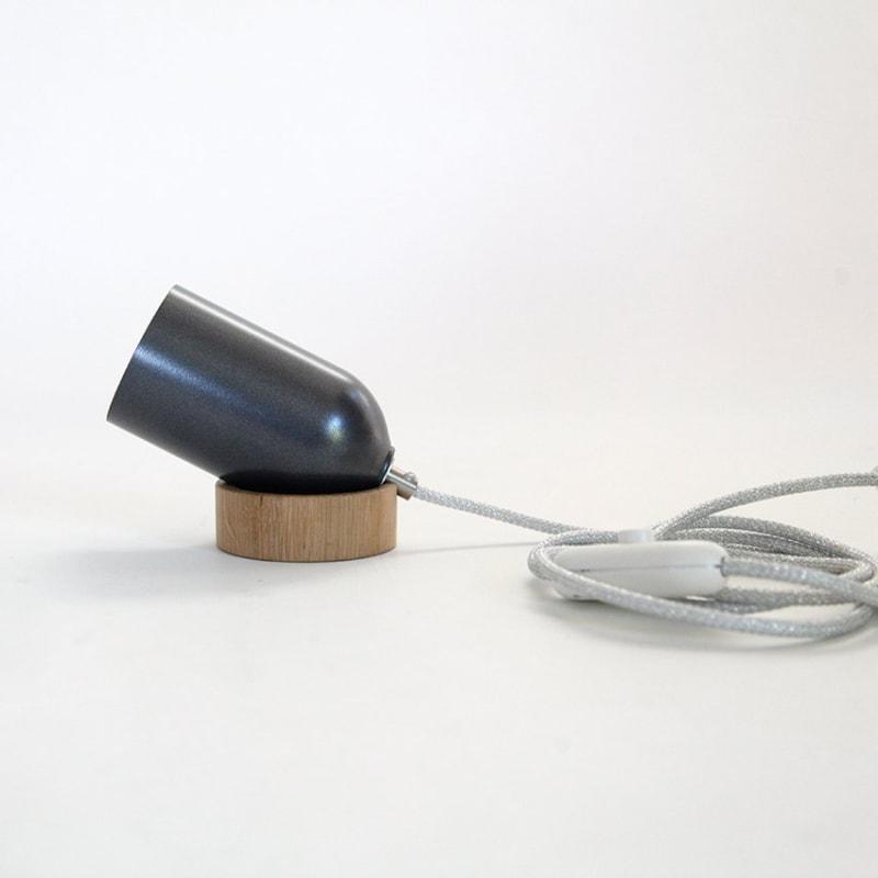 05 fireligt lampe boden tisch anthrazit grau aluminium nussbaum eiche holz licht werkvoll