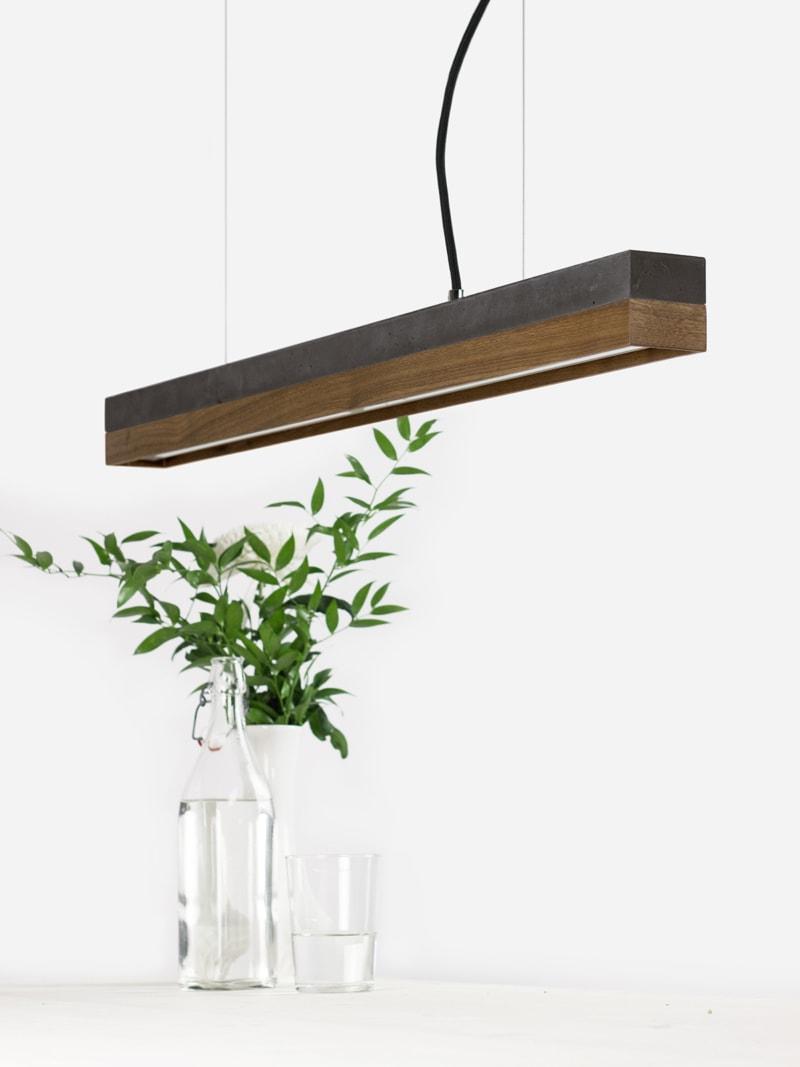 07 c2 konfigurator haengelampe pendelleuchte lampe leuchte licht beton dunkel nussbaum holz gantlights