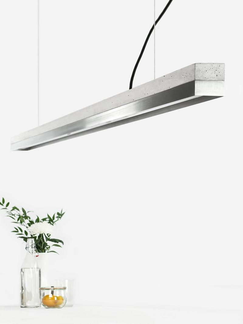 10 c3 konfigurator haengelampe pendelleuchte lampe leuchte licht beton hell edelstahl gebuerstet gantlights