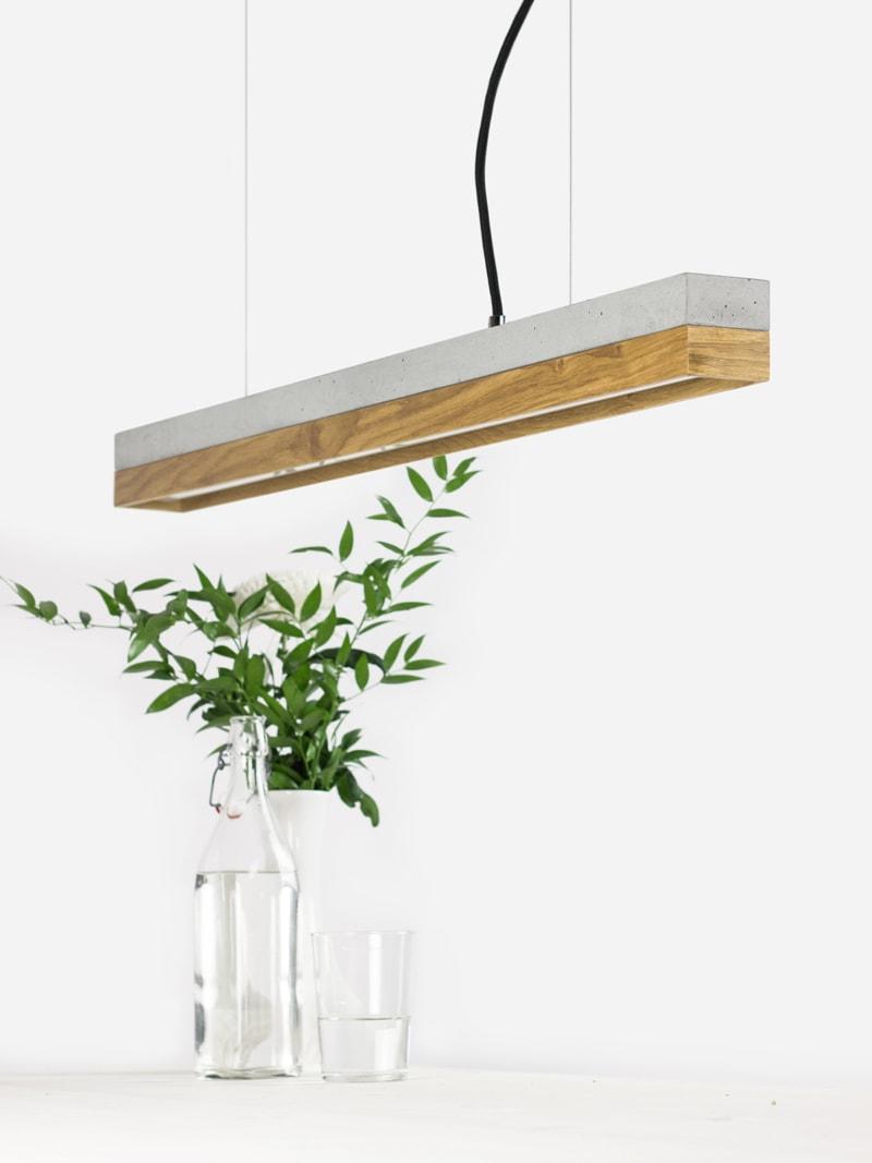 11 c2 konfigurator haengelampe pendelleuchte lampe leuchte licht beton hell eichenholz holz gantlights