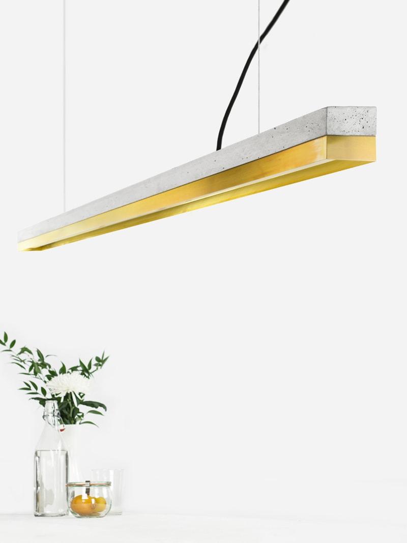 13 c3 konfigurator haengelampe pendelleuchte lampe leuchte licht beton hell messingblech messing gantlights