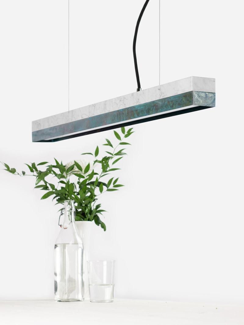 15 c2 konfigurator haengelampe pendelleuchte lampe leuchte licht carrara marmor kupfer oxidiert gantlights