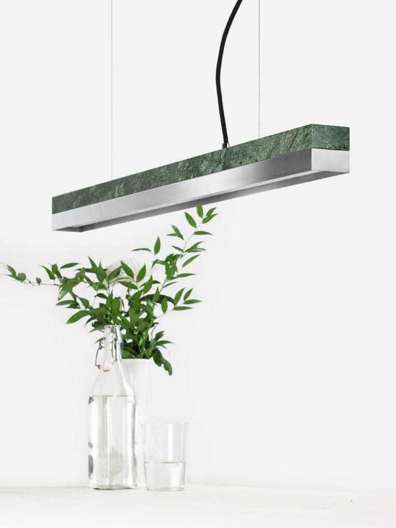 31 c2 konfigurator haengelampe pendelleuchte lampe leuchte licht verde guatemala marmor edelstahl stahl gantlights