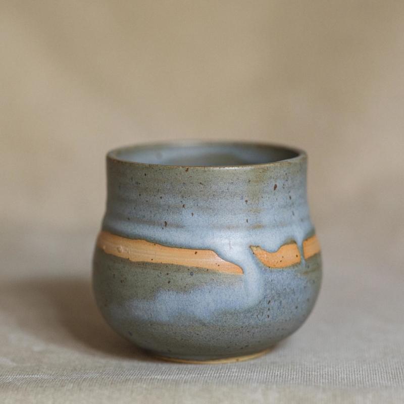 01 cacao ceremony vessel keramik ton blau handgefertigt brsg