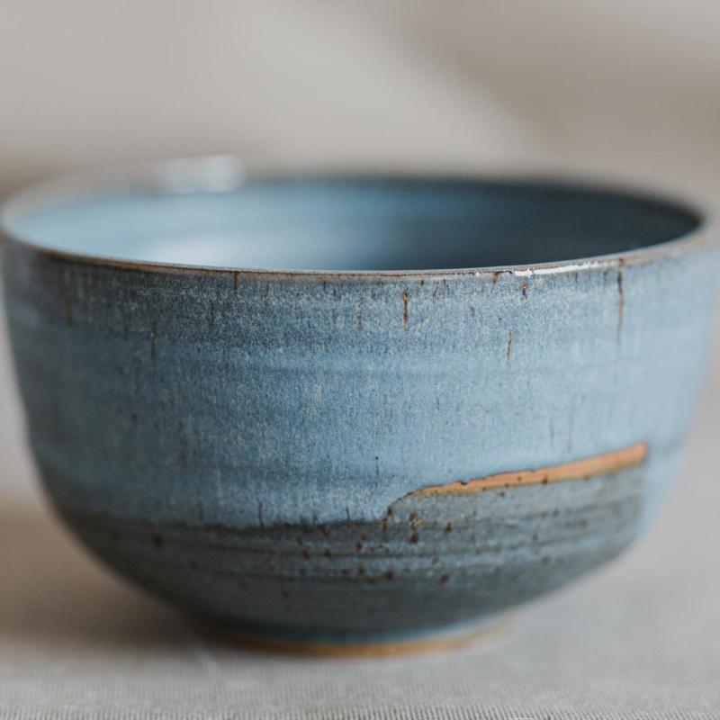01 dining ritual vessel 2 keramik ton blau handgefertigt brsg